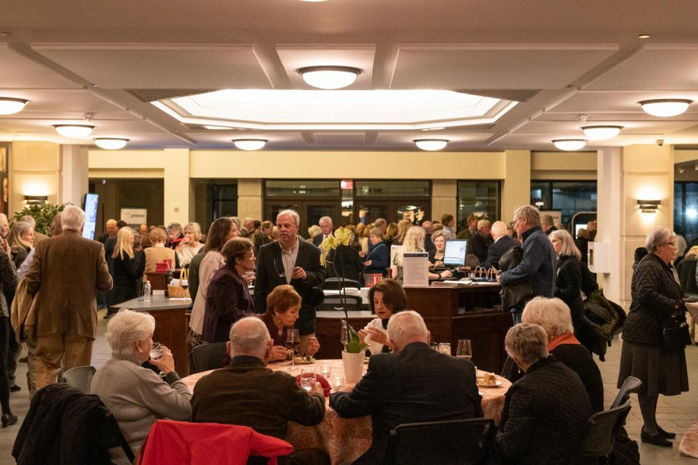 Attendees enjoy the reception at the Virginia Museum of History & Culture while discussing the Health in History panel.