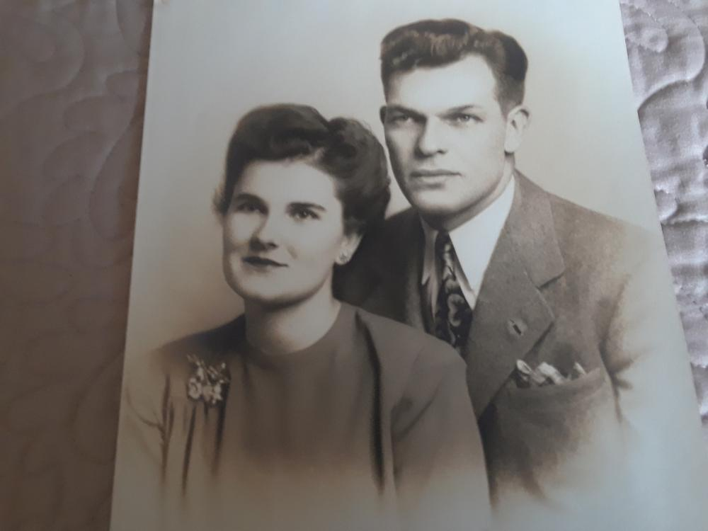 "Charlotte and Herbert ""Bert"" Meyer met at a USO dance in Richmond at the beginning of WWII. They were engaged before Bert was called into action and was wounded during the D-Day invasion in 1944. Photo courtesy of Carlyn Dalness"