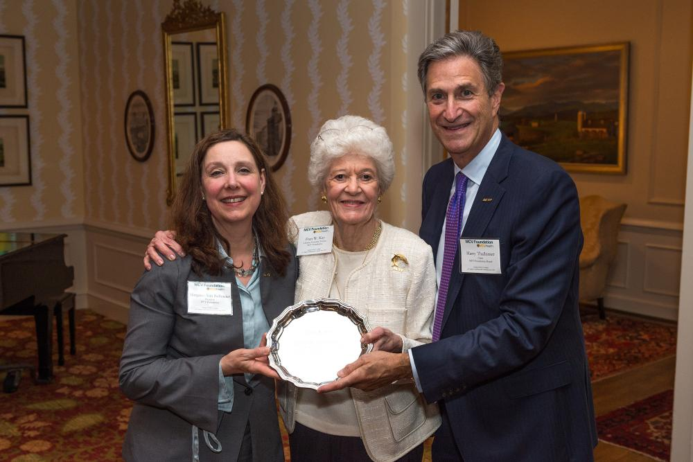 Fran Kay (center) shares a smile with Margaret Ann Bollmeier and Harry Thalhimer at our annual dinner and awards ceremony.