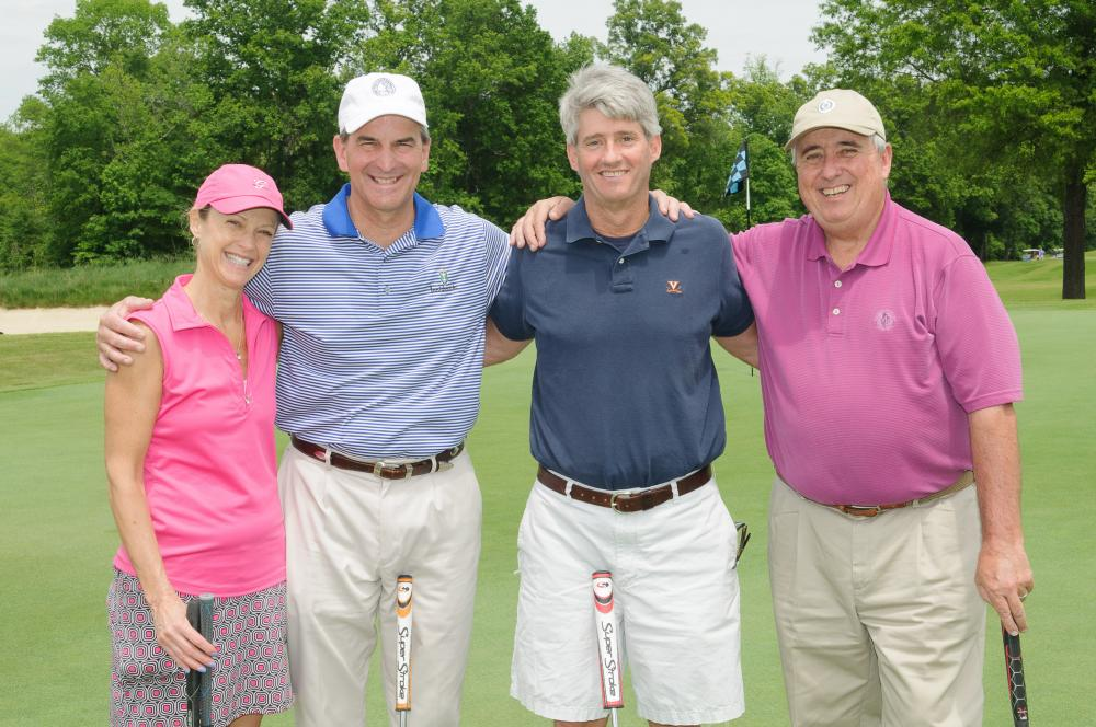 Golfers at Harper's Hope tournament