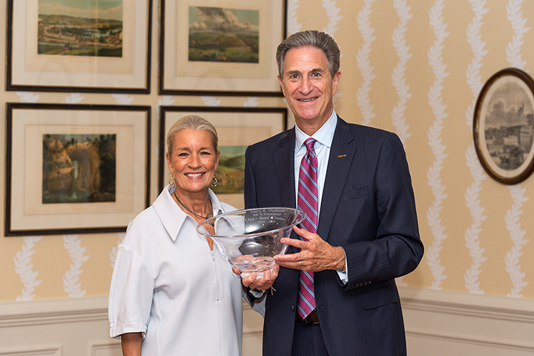 Marsha and Harry Thalhimer celebrate Harry's successful term as MCV Foundation chair at the 2019 annual dinner and awards ceremony. Photo: Kevin Schindler