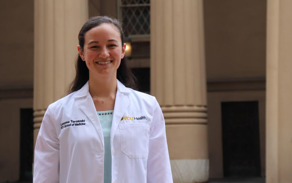 Laurne Terasaki, a member of VCU School of Medicine's Class of 2022, is this year's recipient of the Eugenie M. Fribourg Scholarship.