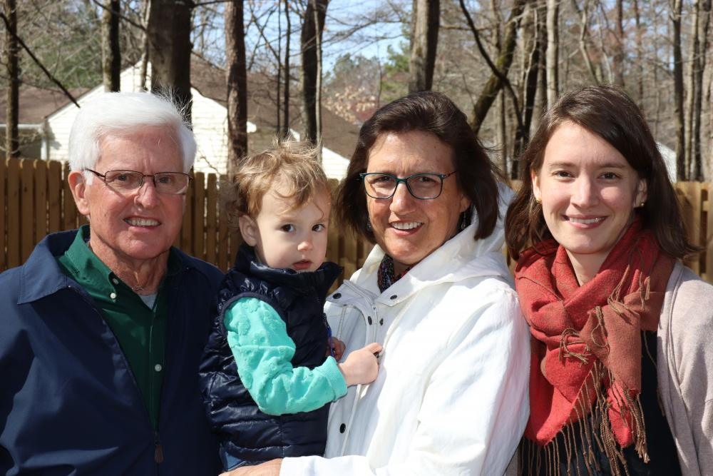 Ed and Patty Prestemon are thankful for every day they get to spend with their family. Here they enjoy an early spring day with their daughter Adrienne and granddaughter Parker. Photo: Eric Peters
