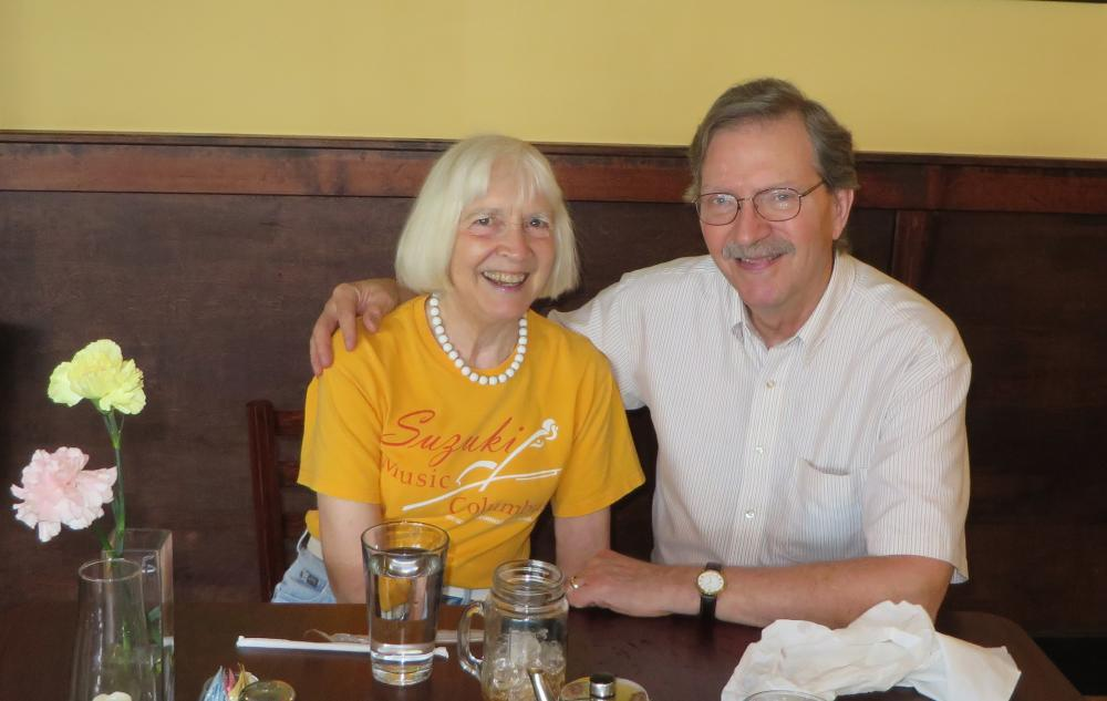 Nancy and Craig Canning celebrate a return to health and enjoy one of their favorite activities — dining out. Photo: Courtesy of the Cannings
