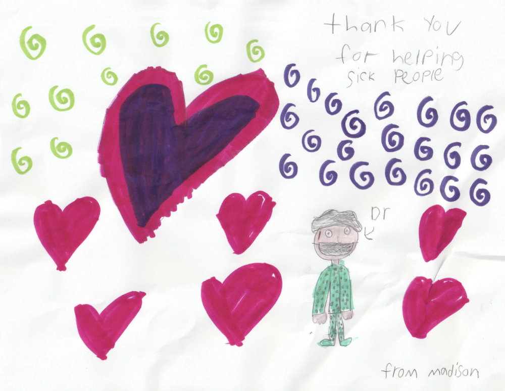 Thank-You Artwork from Local Children