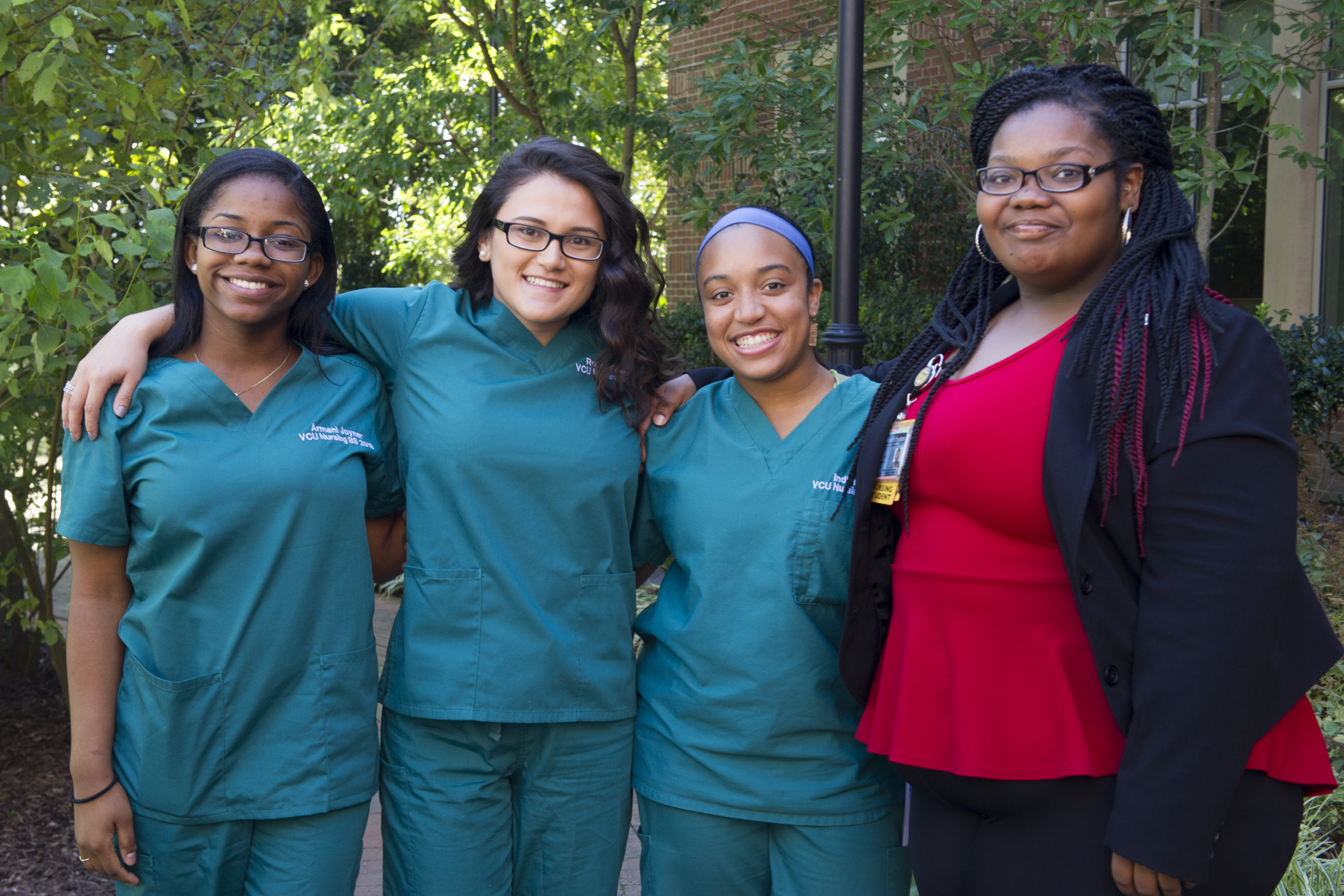 A group of nursing students at the luncheon photo