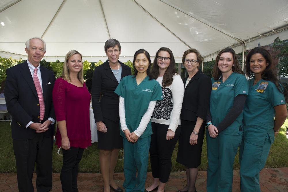 Dean Giddens and nursing students photo