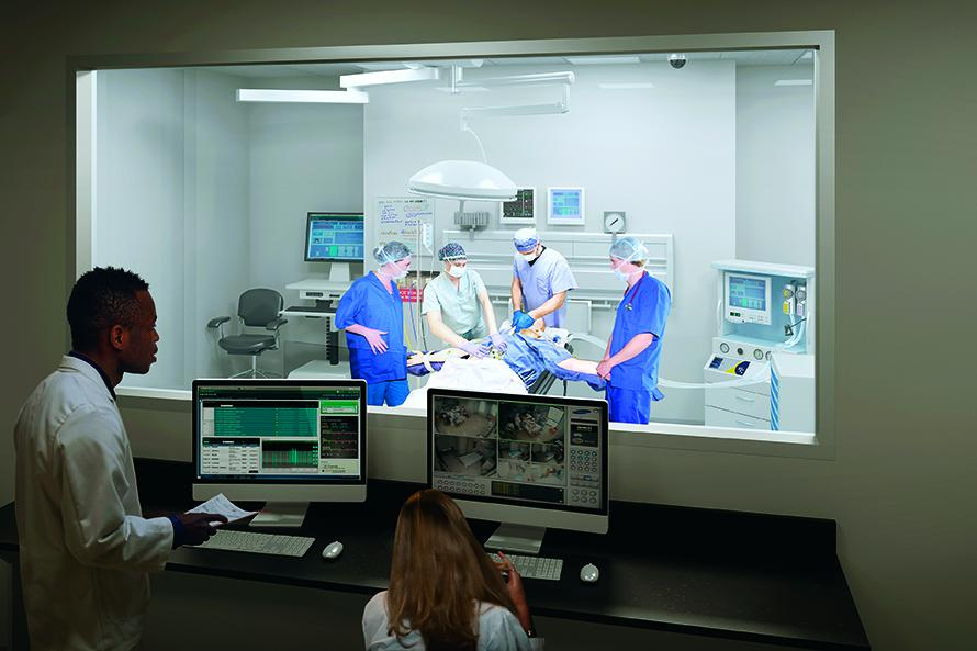 rendering nurse anesthesia simulated operating room
