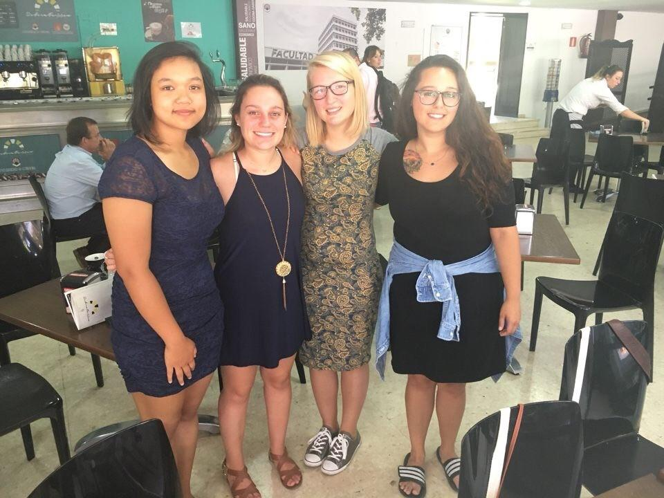 School of Nursing students (L to R) Amy Heng, Kaitlin Boyden, Erin Dymon and Staci Fraley in Cordoba, Spain.