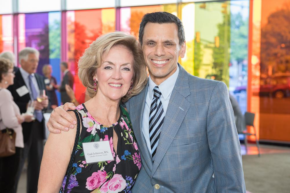 Michael Rao, Ph.D., and Gail Johnson