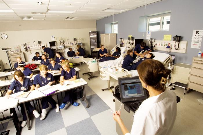 nursing students in classroom